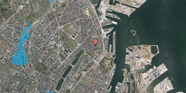Oversvømmelsesrisiko fra vandløb på Willemoesgade 52, 1. th, 2100 København Ø
