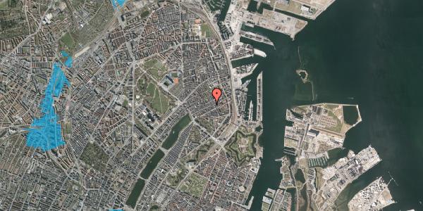 Oversvømmelsesrisiko fra vandløb på Willemoesgade 53, kl. tv, 2100 København Ø