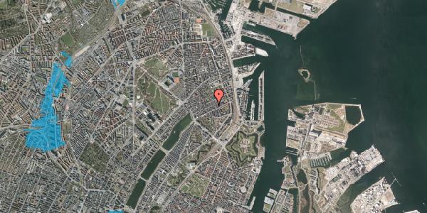 Oversvømmelsesrisiko fra vandløb på Willemoesgade 54, 1. th, 2100 København Ø