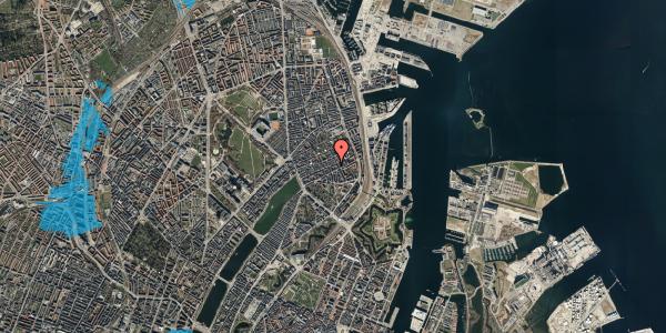 Oversvømmelsesrisiko fra vandløb på Willemoesgade 54, 5. th, 2100 København Ø