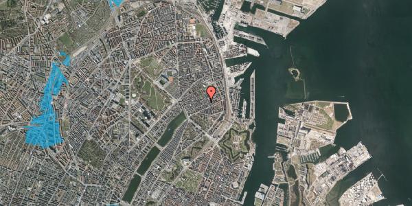 Oversvømmelsesrisiko fra vandløb på Willemoesgade 55, 4. tv, 2100 København Ø