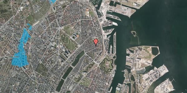 Oversvømmelsesrisiko fra vandløb på Willemoesgade 57, 1. , 2100 København Ø