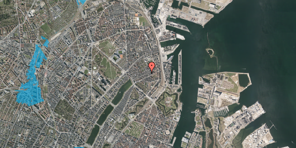 Oversvømmelsesrisiko fra vandløb på Willemoesgade 58A, 2100 København Ø