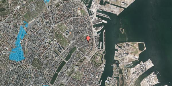 Oversvømmelsesrisiko fra vandløb på Willemoesgade 58E, 2100 København Ø