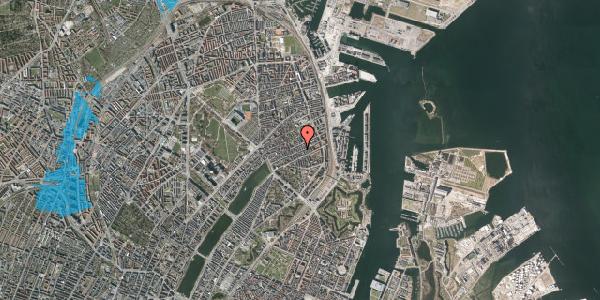 Oversvømmelsesrisiko fra vandløb på Willemoesgade 59, 1. th, 2100 København Ø