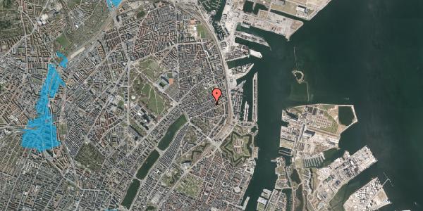 Oversvømmelsesrisiko fra vandløb på Willemoesgade 60, 5. th, 2100 København Ø
