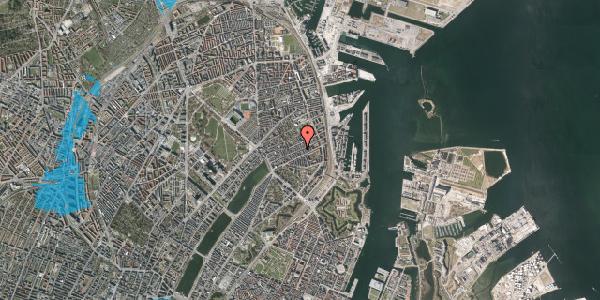 Oversvømmelsesrisiko fra vandløb på Willemoesgade 61, st. th, 2100 København Ø