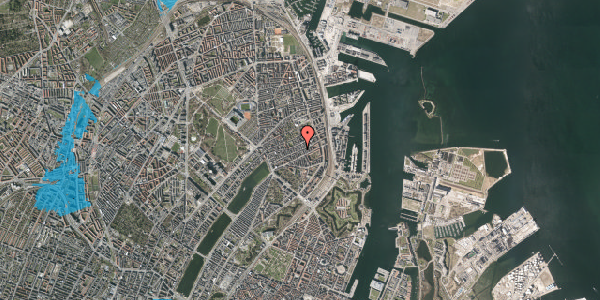 Oversvømmelsesrisiko fra vandløb på Willemoesgade 61, 5. th, 2100 København Ø