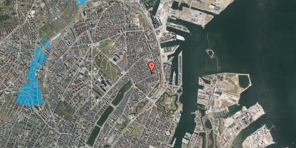 Oversvømmelsesrisiko fra vandløb på Willemoesgade 63, 4. , 2100 København Ø