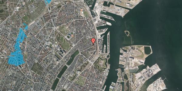 Oversvømmelsesrisiko fra vandløb på Willemoesgade 66, 4. th, 2100 København Ø