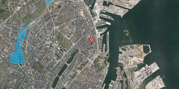 Oversvømmelsesrisiko fra vandløb på Willemoesgade 67, 4. , 2100 København Ø