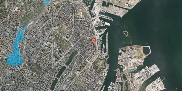 Oversvømmelsesrisiko fra vandløb på Willemoesgade 68, st. , 2100 København Ø