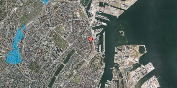 Oversvømmelsesrisiko fra vandløb på Willemoesgade 70, 1. 1, 2100 København Ø