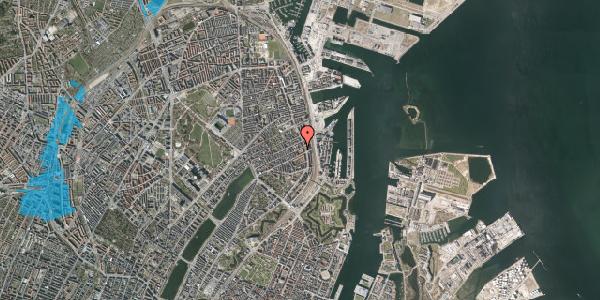 Oversvømmelsesrisiko fra vandløb på Willemoesgade 72, 1. 2, 2100 København Ø