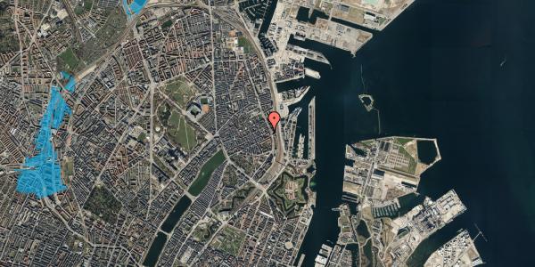Oversvømmelsesrisiko fra vandløb på Willemoesgade 74, st. mf, 2100 København Ø