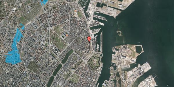 Oversvømmelsesrisiko fra vandløb på Willemoesgade 74, 1. 1, 2100 København Ø
