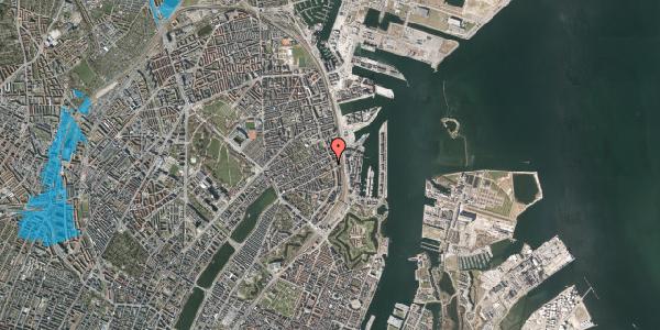 Oversvømmelsesrisiko fra vandløb på Willemoesgade 76, 2. th, 2100 København Ø