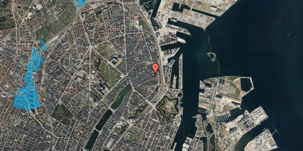 Oversvømmelsesrisiko fra vandløb på Willemoesgade 79, 4. , 2100 København Ø