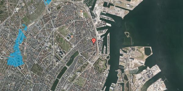 Oversvømmelsesrisiko fra vandløb på Willemoesgade 81, 2. tv, 2100 København Ø
