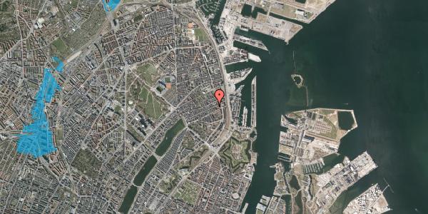 Oversvømmelsesrisiko fra vandløb på Willemoesgade 81, 3. tv, 2100 København Ø