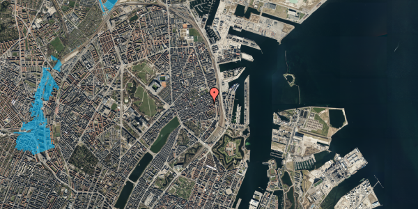 Oversvømmelsesrisiko fra vandløb på Willemoesgade 83, st. tv, 2100 København Ø