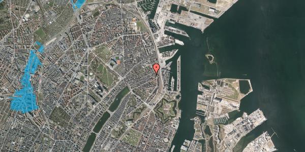 Oversvømmelsesrisiko fra vandløb på Willemoesgade 85, 1. tv, 2100 København Ø