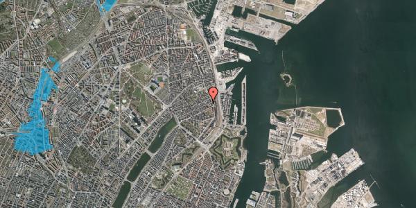 Oversvømmelsesrisiko fra vandløb på Willemoesgade 85, 4. th, 2100 København Ø