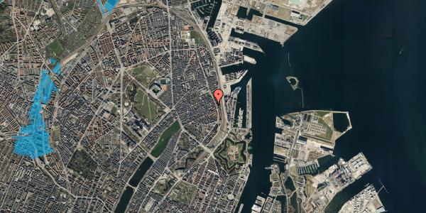 Oversvømmelsesrisiko fra vandløb på Willemoesgade 87, kl. , 2100 København Ø