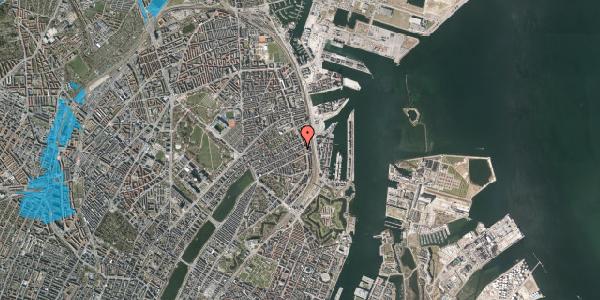 Oversvømmelsesrisiko fra vandløb på Willemoesgade 87, 1. th, 2100 København Ø