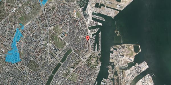 Oversvømmelsesrisiko fra vandløb på Willemoesgade 89, 1. th, 2100 København Ø