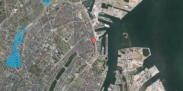 Oversvømmelsesrisiko fra vandløb på Willemoesgade 89, 3. tv, 2100 København Ø