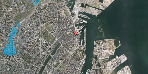 Oversvømmelsesrisiko fra vandløb på Willemoesgade 91, 1. th, 2100 København Ø