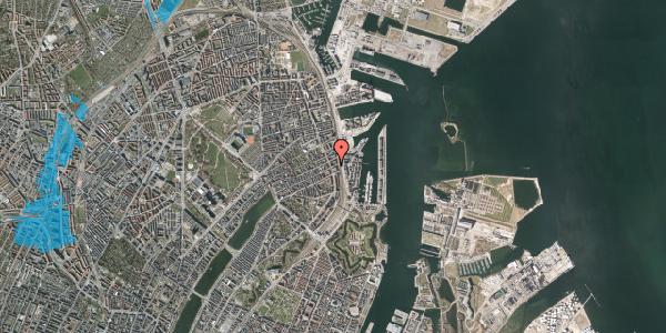 Oversvømmelsesrisiko fra vandløb på Willemoesgade 91, 1. tv, 2100 København Ø