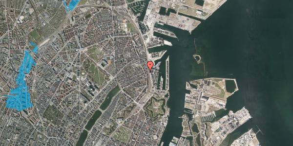 Oversvømmelsesrisiko fra vandløb på Willemoesgade 93A, 2. tv, 2100 København Ø