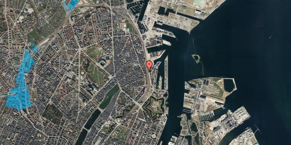 Oversvømmelsesrisiko fra vandløb på Willemoesgade 93A, 4. tv, 2100 København Ø