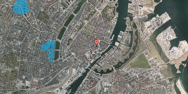 Oversvømmelsesrisiko fra vandløb på Vingårdstræde 19, 1. th, 1070 København K