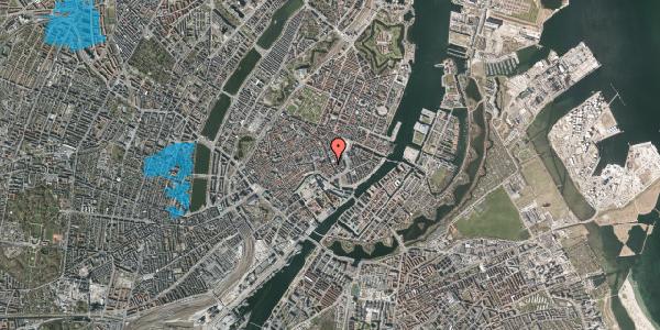 Oversvømmelsesrisiko fra vandløb på Vingårdstræde 19, 3. tv, 1070 København K