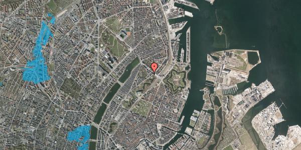 Oversvømmelsesrisiko fra vandløb på Visbygade 4, st. th, 2100 København Ø
