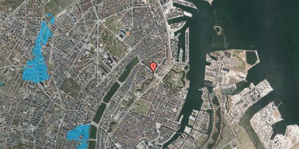 Oversvømmelsesrisiko fra vandløb på Visbygade 4, 1. th, 2100 København Ø