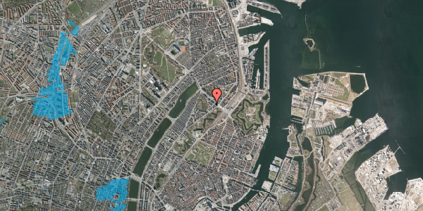 Oversvømmelsesrisiko fra vandløb på Visbygade 8, 2. th, 2100 København Ø