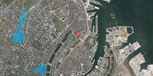 Oversvømmelsesrisiko fra vandløb på Visbygade 10, 4. th, 2100 København Ø