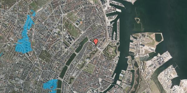 Oversvømmelsesrisiko fra vandløb på Visbygade 12A, 1. th, 2100 København Ø