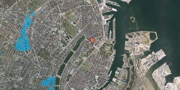 Oversvømmelsesrisiko fra vandløb på Visbygade 14, st. th, 2100 København Ø