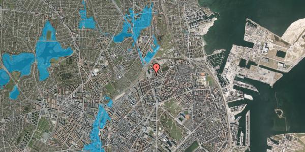 Oversvømmelsesrisiko fra vandløb på Vognmandsmarken 3, st. th, 2100 København Ø