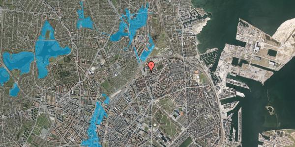 Oversvømmelsesrisiko fra vandløb på Vognmandsmarken 5, 1. tv, 2100 København Ø