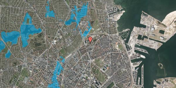 Oversvømmelsesrisiko fra vandløb på Vognmandsmarken 9, 3. th, 2100 København Ø