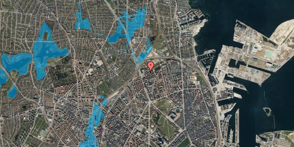 Oversvømmelsesrisiko fra vandløb på Vognmandsmarken 17, 3. tv, 2100 København Ø