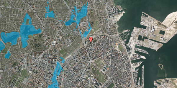 Oversvømmelsesrisiko fra vandløb på Vognmandsmarken 17, 4. tv, 2100 København Ø
