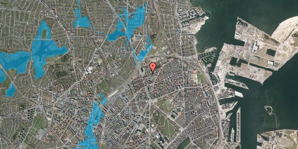 Oversvømmelsesrisiko fra vandløb på Vognmandsmarken 22, 1. th, 2100 København Ø