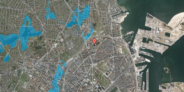 Oversvømmelsesrisiko fra vandløb på Vognmandsmarken 33, 1. th, 2100 København Ø